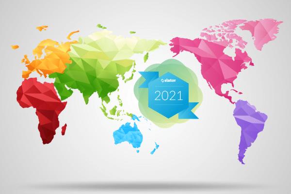 Country Analysis of Slator Language Service Provider Index 2021 of Translation Agency Ranking - 超过50%的Slator LSPI公司总部仅分布在5个国家
